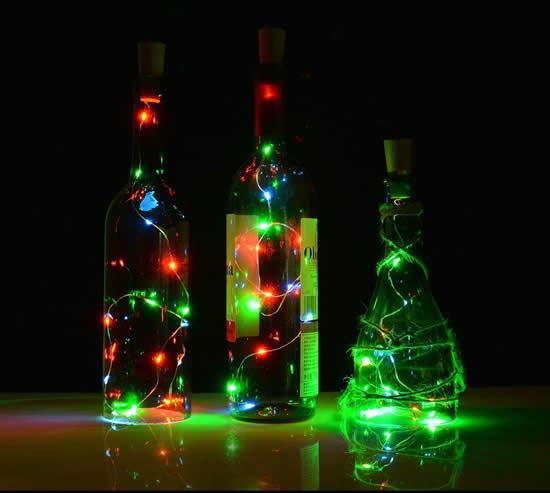 Décoration avec des bouteilles pour Noël