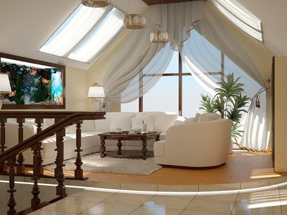 intérieur dans maison avec grenier