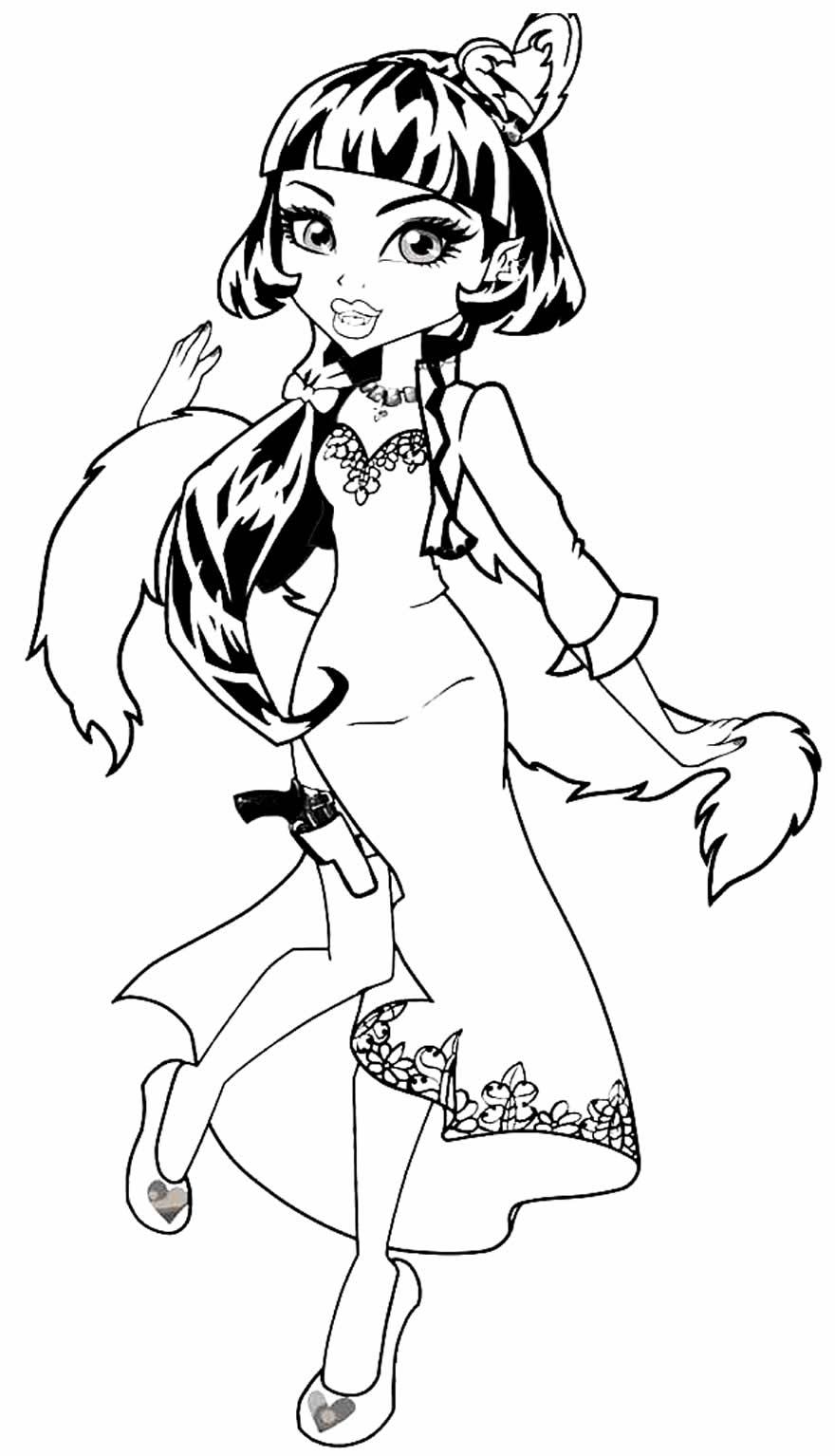 Image Monster High à peindre et colorier