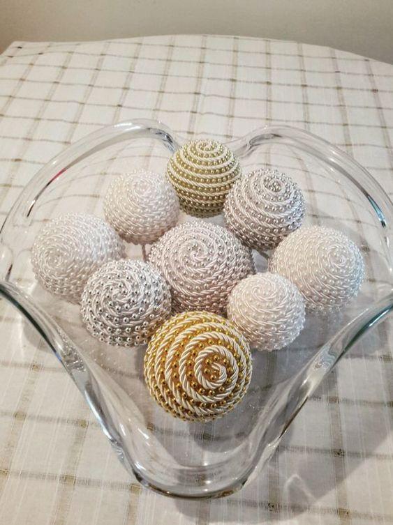 Décoration de Noël avec boule de polystyrène étape par étape (29)
