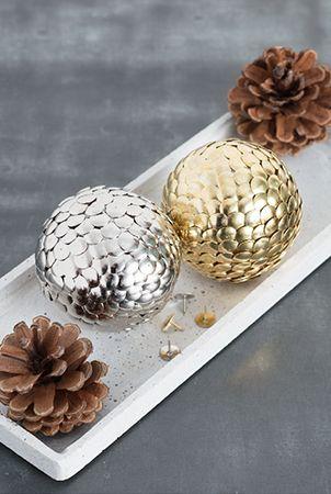 Décoration de Noël avec boule de polystyrène étape par étape (39)