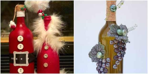 décoration de Noël avec des bouteilles en verre recyclé