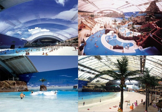 Ocean Dome, Sigaya, environ.  Kyushu, Japon