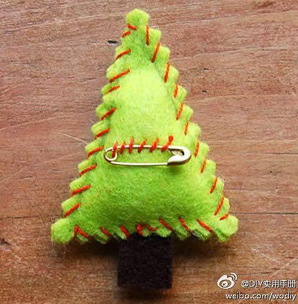Artisanat en feutre pour Noël