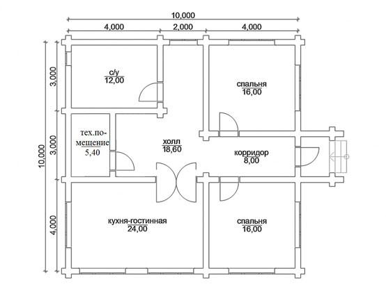 Projet n ° 2 avec deux salons et une cuisine-studio