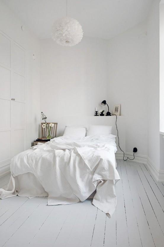 photo intérieure de l'appartement blanc