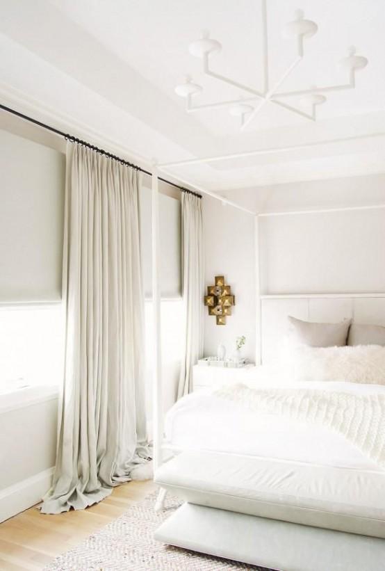 intérieur en blanc