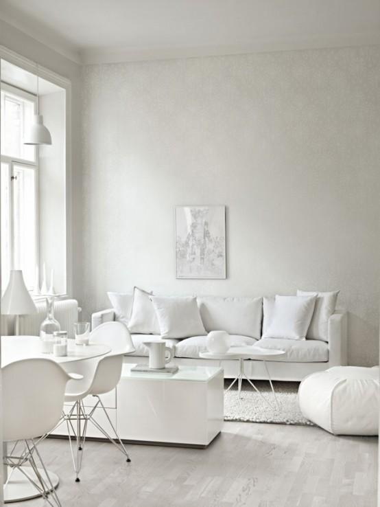 intérieur en photo couleur blanche