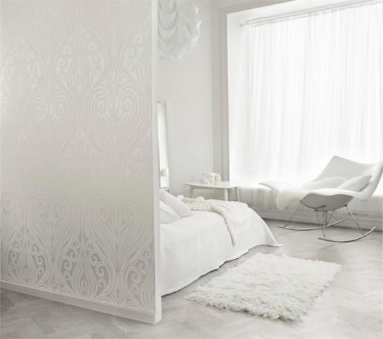 intérieur de la chambre blanche