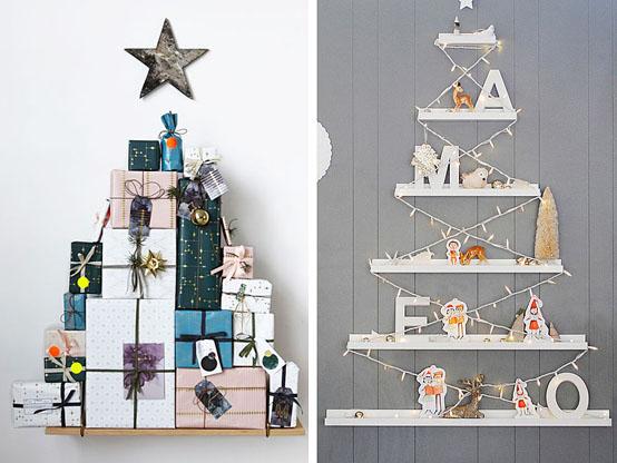 Photo d'un arbre de Noël inhabituel