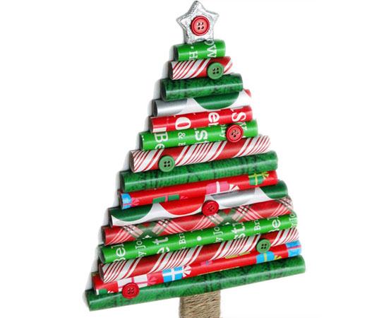 Sapin de Noël original avec vos propres mains de l'emballage cadeau