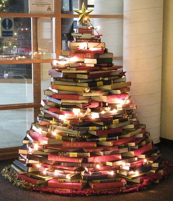 Arbre de Noël inhabituel pour les amateurs de livres