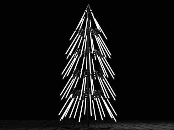 Sapin de Noël brillant
