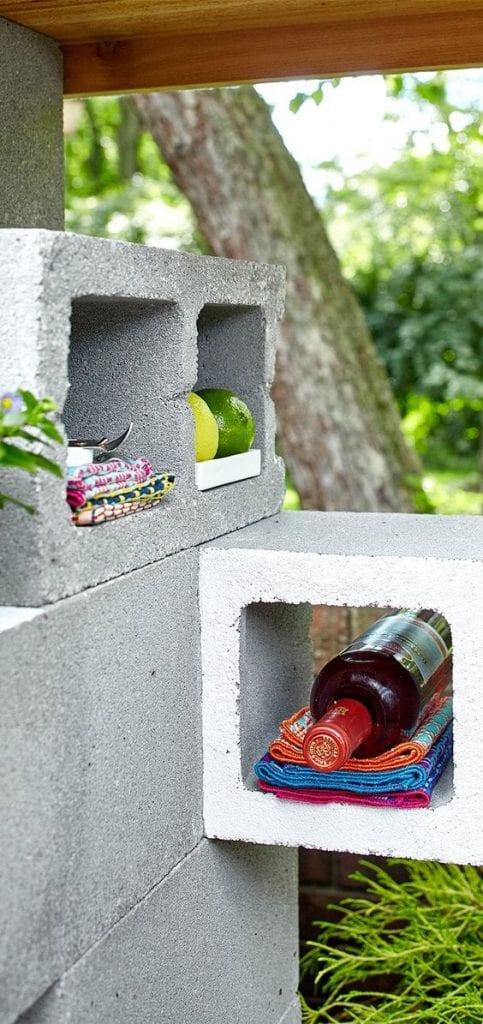 cave avec blocs de béton