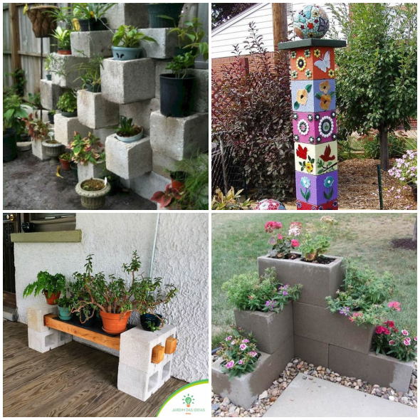 jardins en blocs de béton