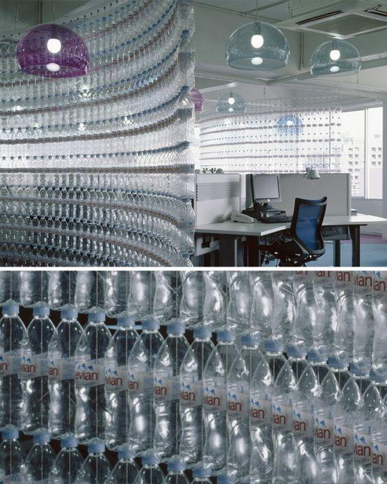 décoration avec des bouteilles en PET