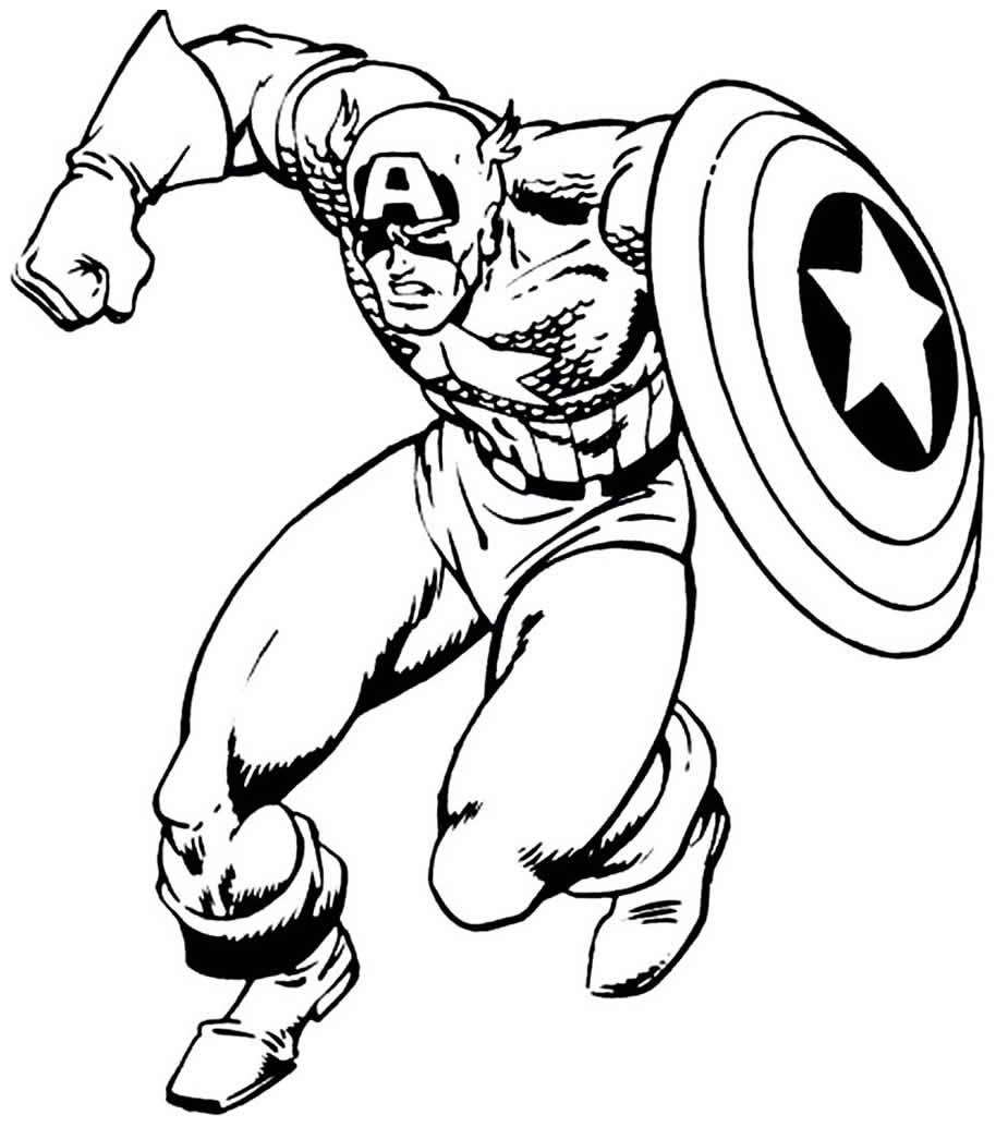 Image de Captain America à découper