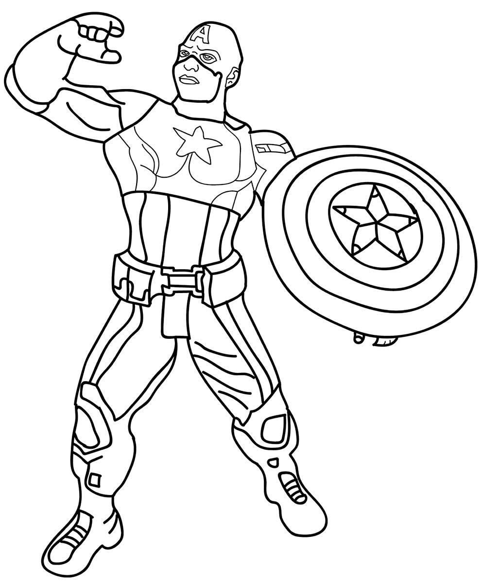 Superbe dessin de Captain America