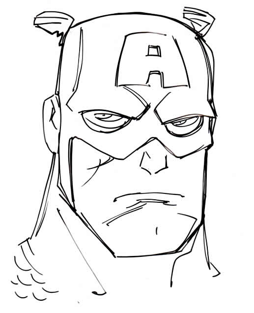 Dessin de Captain America