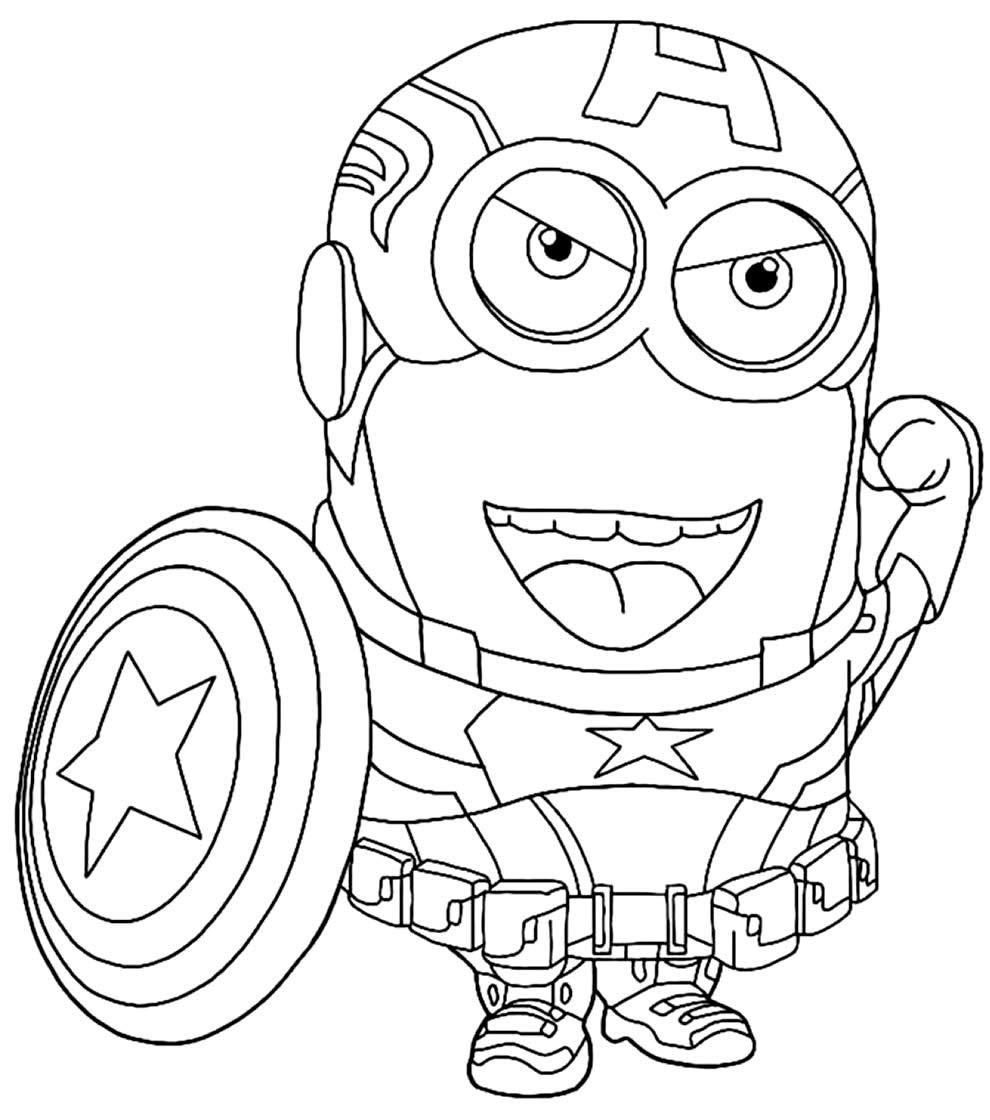 Dessin de Captain America Minion