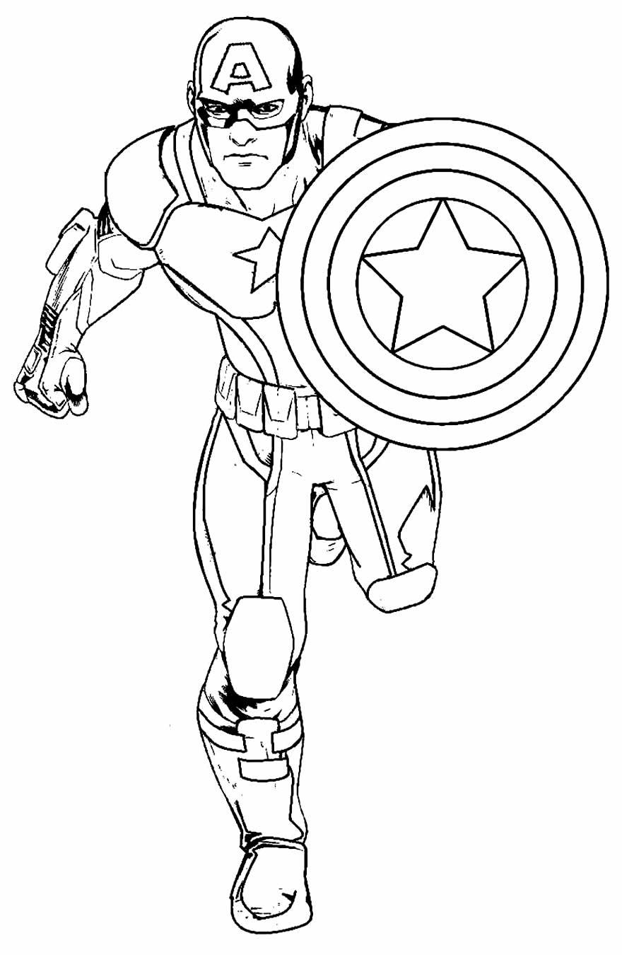 Image de Captain America à peindre