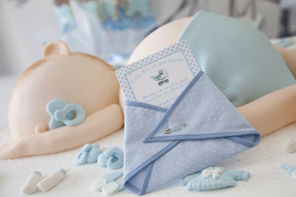 invitation de douche de bébé en tissu de douche de bébé