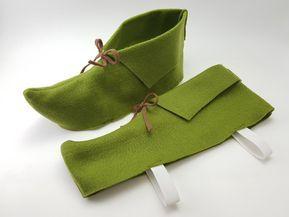 Chaussure en feutre de Peter Pan