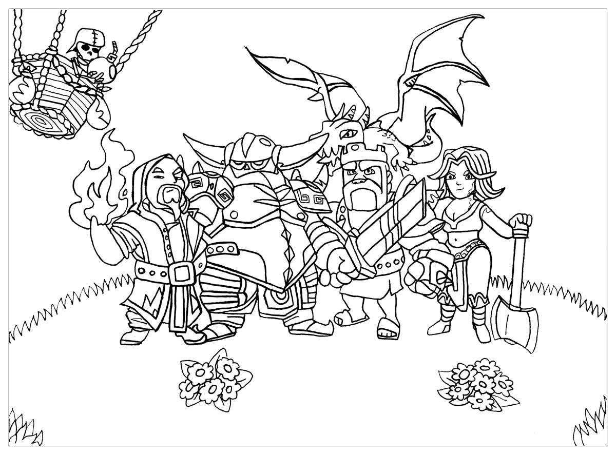 Coloriage de Clash of Clans