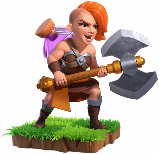 Coloriage - Clash of Clans - Super Valkyrie