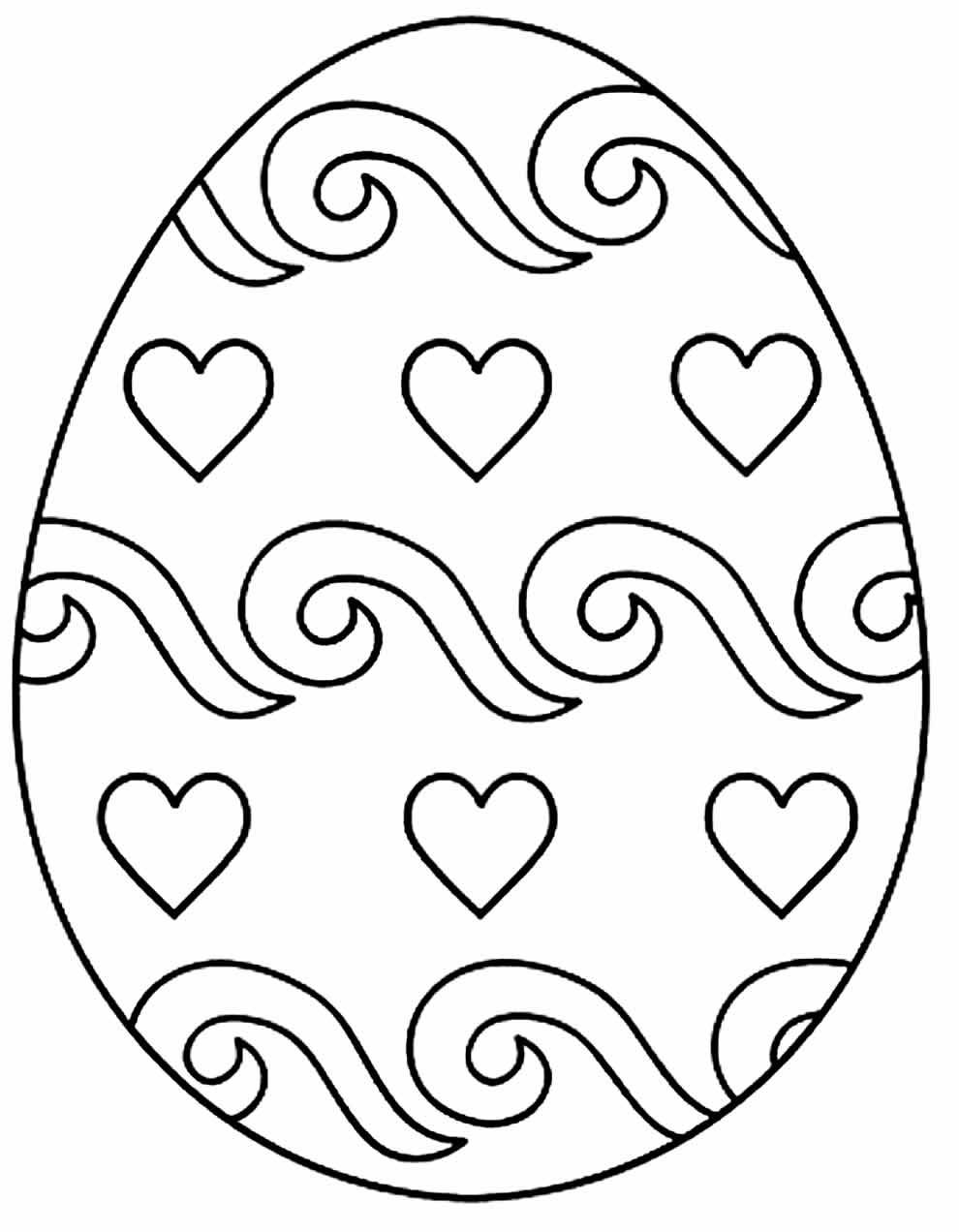 Coloriage de Pâques à peindre et colorier