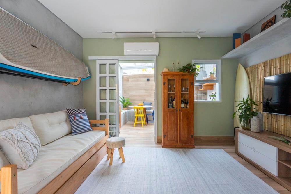 chambre avec mur végétal