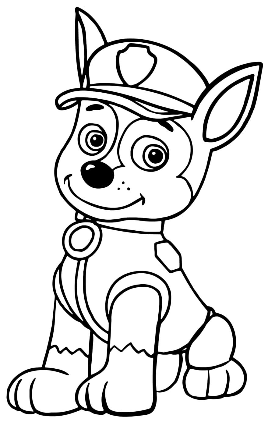 Paw Patrol dessin à peindre