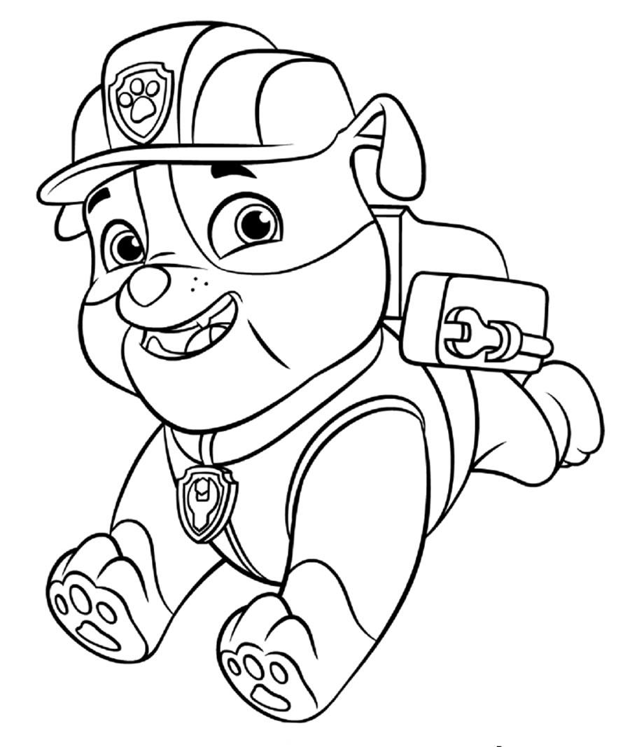 Image Paw Patrol à colorier
