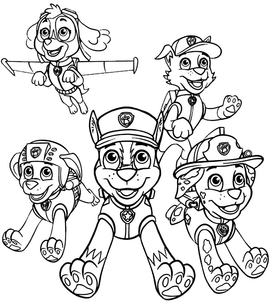 Image à colorier de Dog Patrol