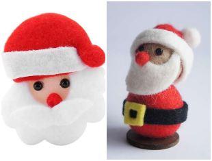 10 belles idées du Père Noël avec du feutre