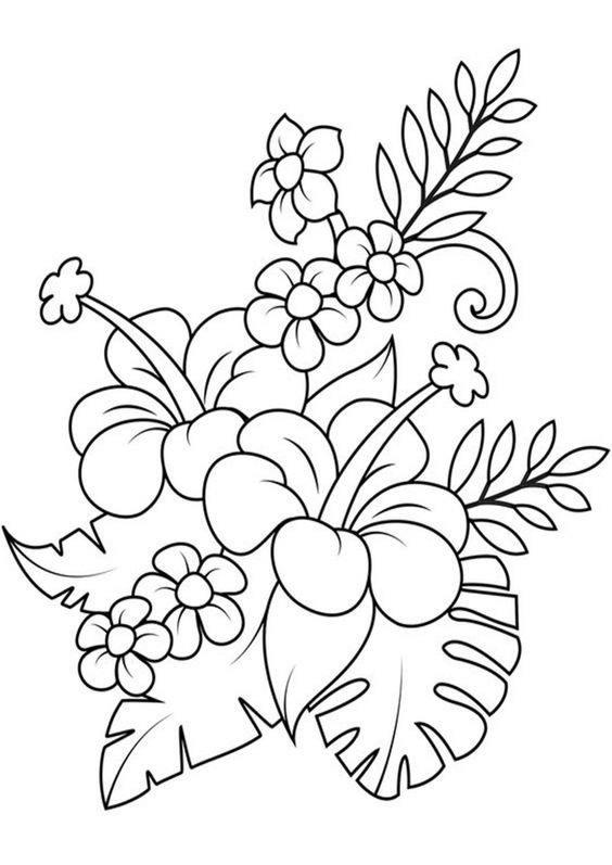coloriage de fleur à colorier et imprimer