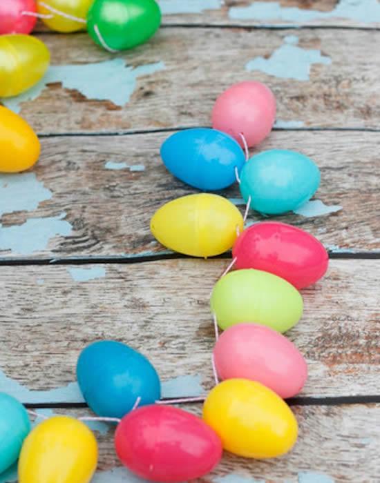 Guirlande de style corde à linge pour Pâques