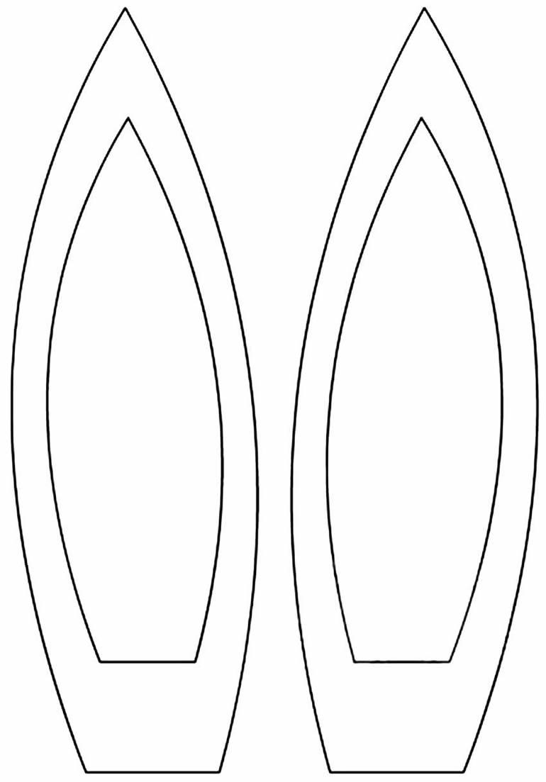 Modèle d'oreilles de lapin