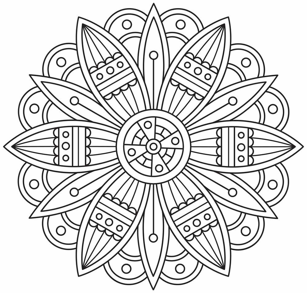 Coloriage de Mandala à imprimer et colorier