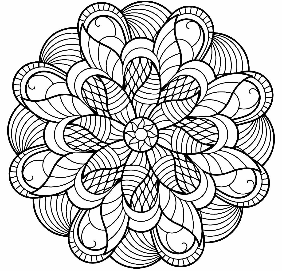 Mandala créatif à peindre