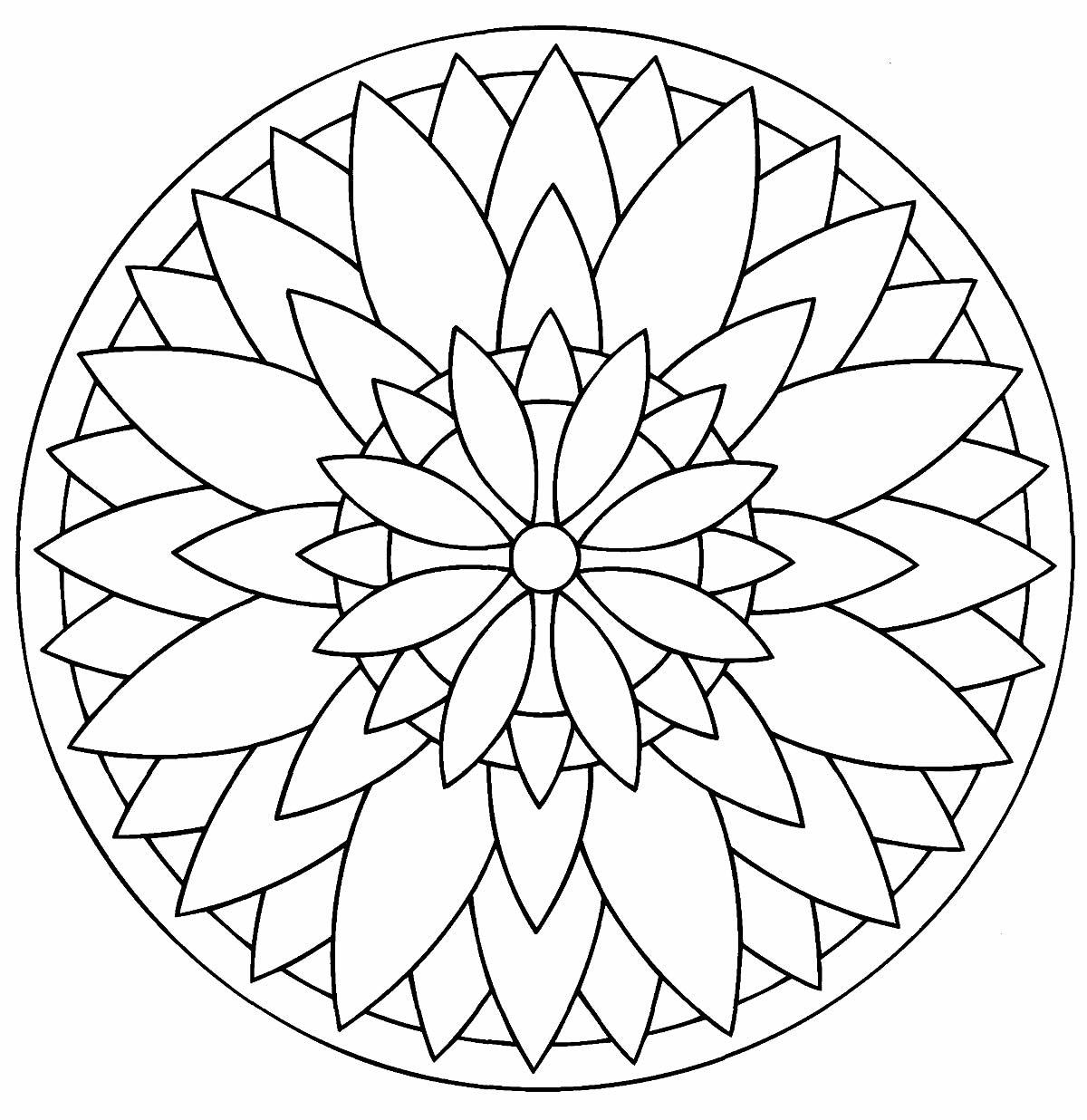 Mandala créatif à colorier