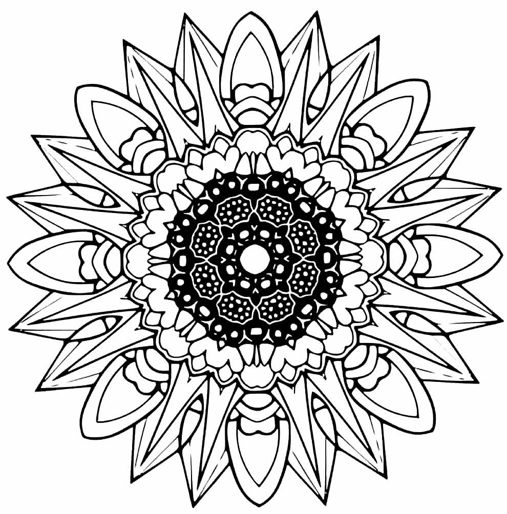 Modèle de mandala pour impression
