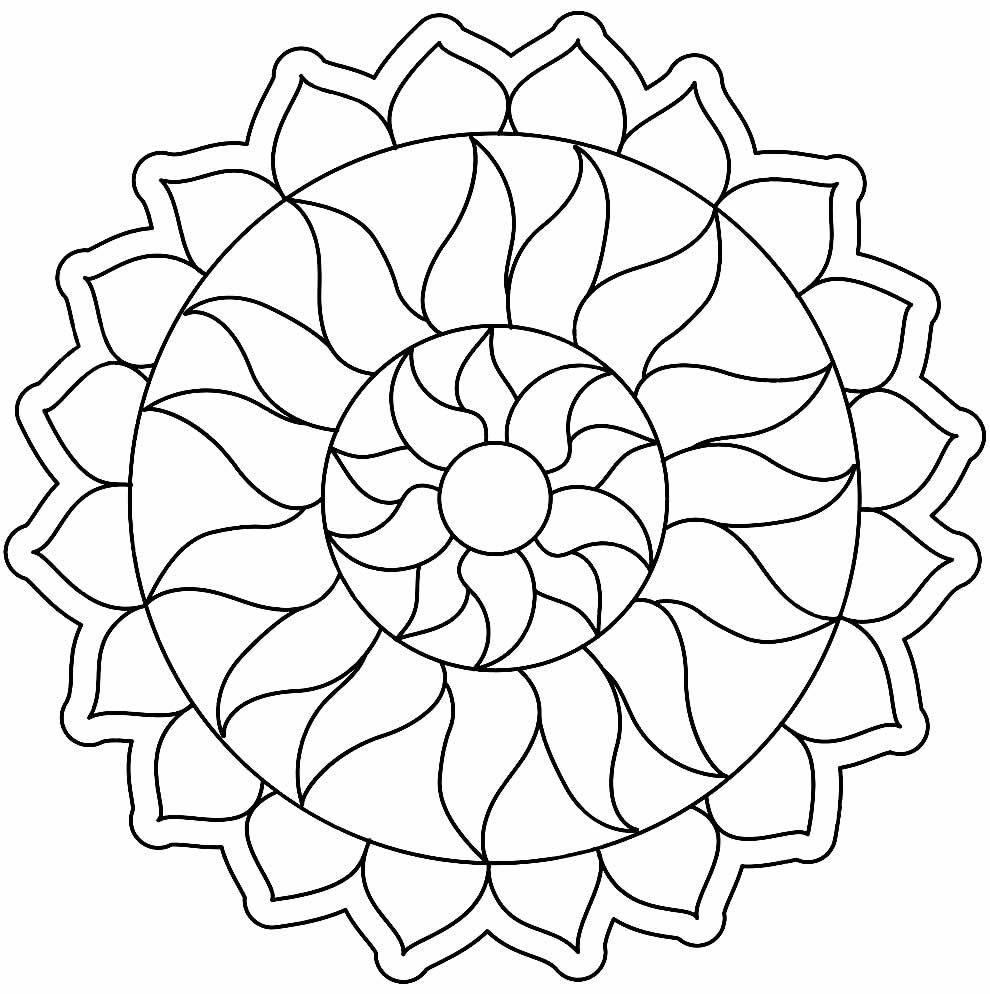 Belle Coloriage Mandala