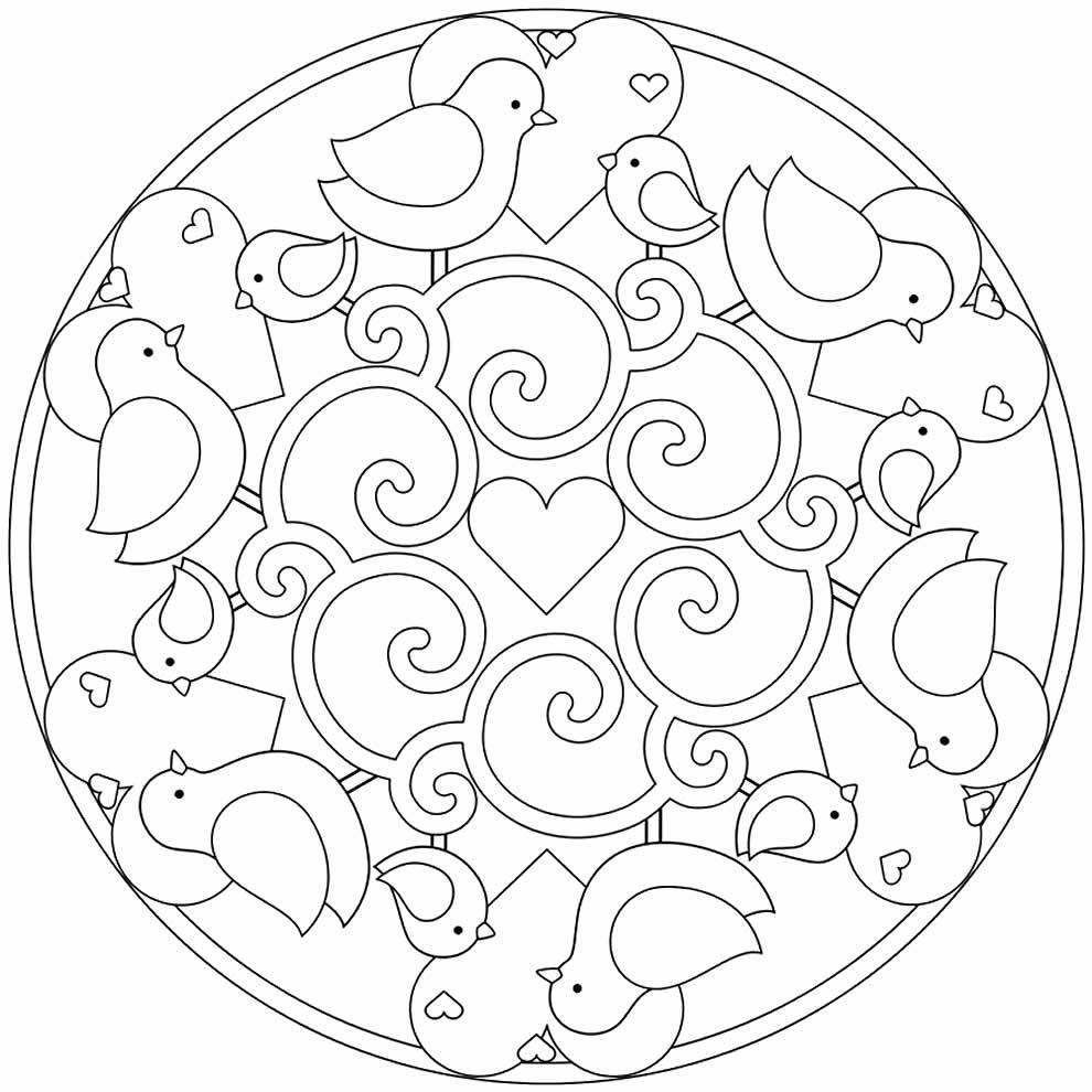 Dessin pour peindre Mandala