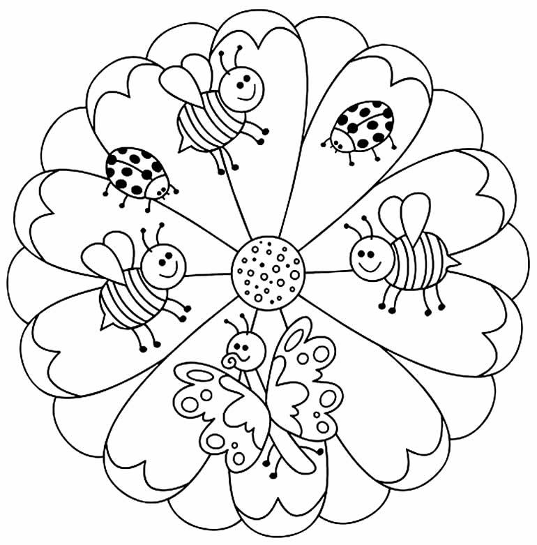 Coloriage mandala pour enfants