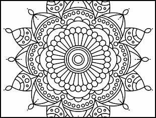Coloriages de Mandala à imprimer et colorier