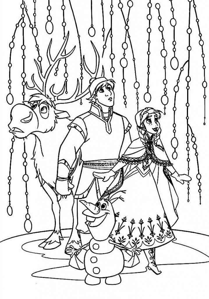 Coloriage Olaf et Frozen