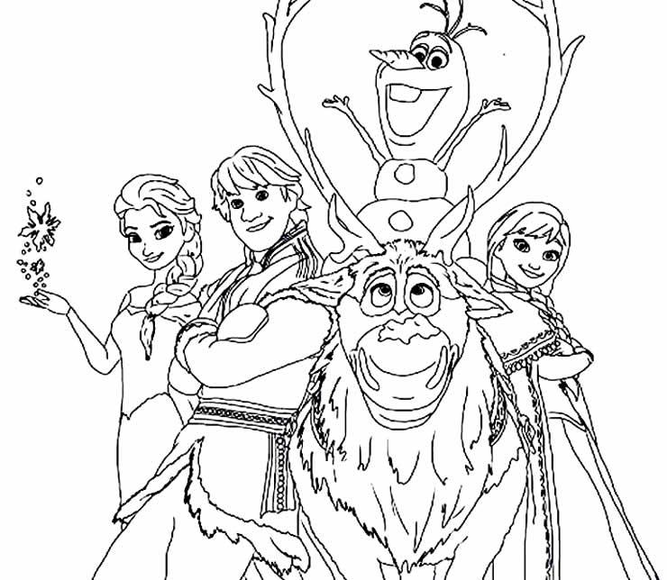Coloriages Olaf et Frozen