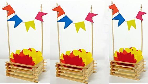 Décorations de bâton de popsicle