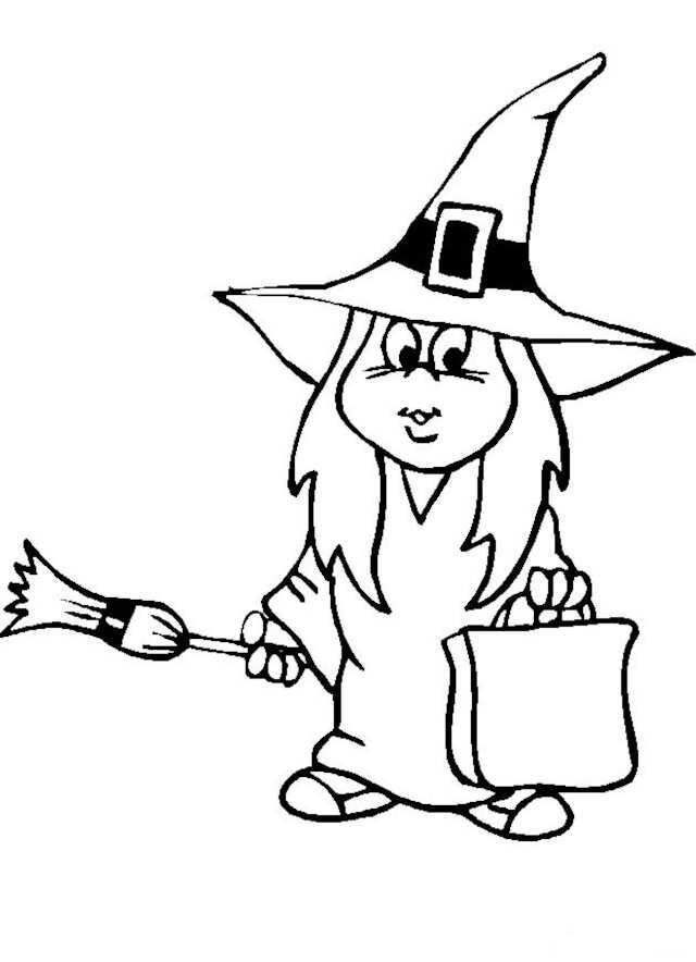coloriages de sorcières